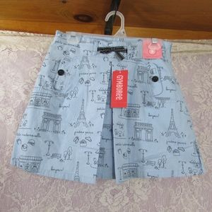 Gymboree NWT Girls Size 9 Paris Skirt